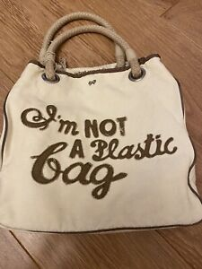 "Anya Hindmarch ""I'm Not A Plastic Bag""  Original Rare 2007 Grey writing"