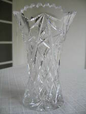 BN! VINTAGE LEAD CRYSTAL CLEAR VASE MEDIUM LONGER STEMS FLOWERS