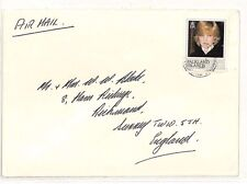 Ss148 anni'80 Isole Falkland commerciale posta aerea * LADY DIANA * TIMBRO BELLE COVER
