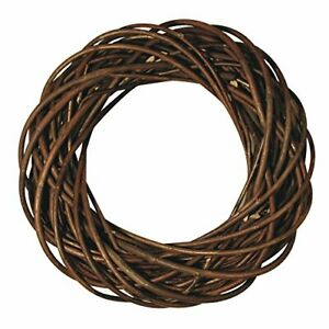 65007000 Natural Willow Twig Wreath with a Diameter of 25 cm, Braided