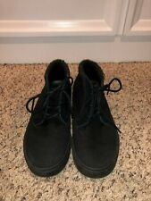 Reef Outhaul Black Canvas Shoes in Size 8-VGUC