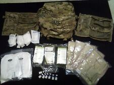 New MOLLE II Multicam Modular Military Medic Bag Backpack with assorted supplies