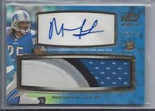 MIKEL LESHOURE 2011 TOPPS PRIME LEVEL 4 JUMBO 4 COLOR PATCH AUTO RC #D 13/15