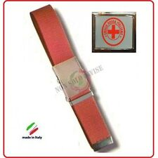 Cintura Canapa Rossa Croce Rossa Italiana Rossa Nuovo Capitolato Vetrificata