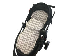 GOOSEBERRY 2in1 FOOTMUFF PRAM SEAT LINER SLEEPING BAG COSY TOES Cotton Chevron