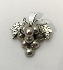 Vintage 925 Grape Cluster Brooch/Pin Pendant Mexico Signed
