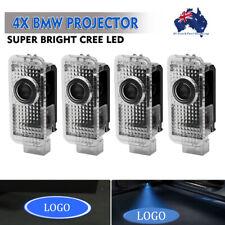 4X BMW 3D LED Light Logo Projector Emblem Accessory Car Bright Light Door Series