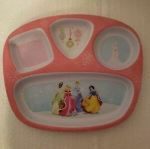 Disney Divided Plate PRINCESSES Hard Plastic Snow White Cinderella Beauty