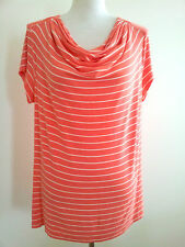 Effortless Style! Liz Jordan size XL coral short sleeve top