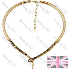 Serpiente Gargantilla Collar Collar Cristal Strass Vintage Gold Plt Cleopatra Asp
