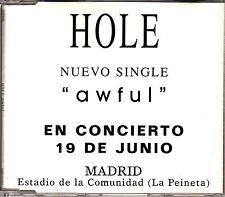 CD SINGLE HOLE awful COURTNEY LOVE 1-TRACK SPANISH rare 1998