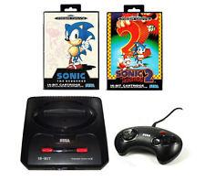 ## SEGA Mega Drive 2 Konsole + Pad + Strom- & TV-Kabel + Sonic 1 und 2 !!! ##