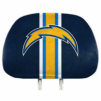Los Angeles Chargers  2-Pack Color Print Auto Car Truck Headrest Covers