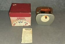 Nestor Johnson Card Shuffler [w/ Box & Instructions] Works!