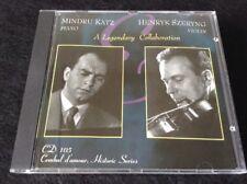 A Legendary Collaboration (CD, Cembal d'amour) Mindru Katz + Henryk Szeryng