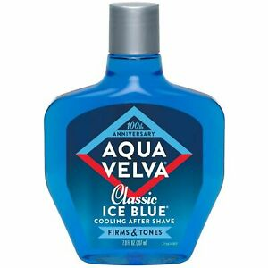 AQUA VELVA CLASSIC ICE BLUE COOLING AFTER SHAVE MADE IN U.S.A. 207ML