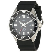 Casio Analog Dive Black Watch-Men's MDV-106-1AVCF -Brand New -US Seller