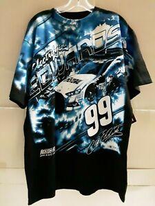 Carl Edwards # 99 Nascar Black Total Print T-shirt, size XL