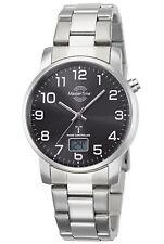 MASTER TIME Herren-Funkuhr Basic mit Edelstahl-Armband MTGA-10694-21M