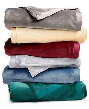 SET of 2 Berkshire TWIN Blanket Classic Velvety Plush Grey B98181
