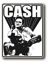 JOHNNY CASH POP ROCK ROCKABILLY DECAL STICKER HIGH GLOSS OUTDOOR