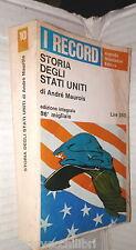 STORIA DEGLI STATI UNITI Andre Maurois Mondadori I Record America Contemporanea