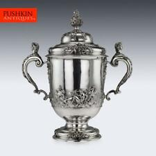 More details for antique 20thc edwardian monumental solid silver cup & cover, hancock & co c.1907
