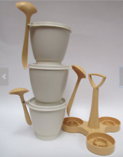 Tupperware Vintage Brand New Condiment Serving Set Harvest Gold New