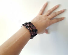Gorgeous set of 3 black coloured elasticated bead bracelets *Fab set*