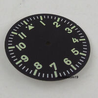 35.5MM Green numbers Luminous Marks Watch Dial Fit For Miyota 8215 8205 Movement