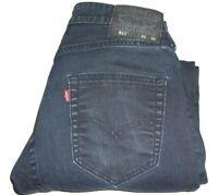 Mens LEVIS 511 COMMUTER Dark Blue Slim Fit Stretch Denim Jeans W30 L30