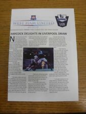 15/03/2013 West Ham United U21 v Arsenal U21  (4 Pages). Thank you for viewing o