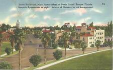 ag(N) Tampa, FL: Davis Boulevard, Spanish Apartments on Right