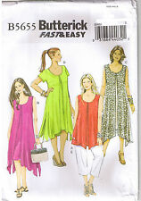 Easy Overlay Dress Tunic Straight Leg Cropped Pants Sewing Pattern 18 20 22 24