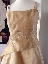 Abendkleid, Maikleid, Designerkleid, Gr. 34-36, champagnerfarben, 1x getragen