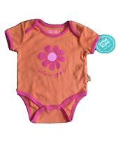 Life Is Good GOOD KIDS Daisy Baby Bodysuit Infant Size 3-6 Months 6M Pink Orange