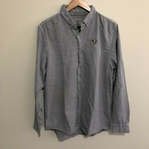 Pizza Button Shirt Embroidery Brunswick Icon Series Cotton On Green Mens Large