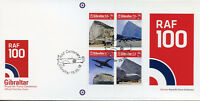 Gibraltar 2018 FDC RAF Royal Air Force Cent 4v M/S Cover Aviation Stamps