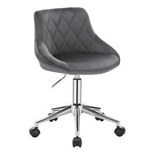 Bürohocker Rollhocker Arbeitshocker Schreibtischstuhl Samt Dunkelgrau BS104dgr