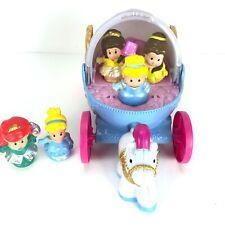 Little People Cinderella Coach Carriage Light Sounds Disney with 5 Princesses