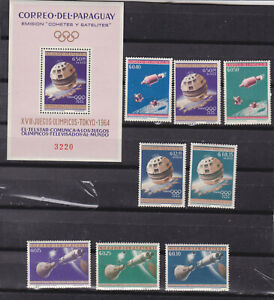paraguay 1954 Sc 806/13+813a space..two sets .perf + imperf,MNH      o1100