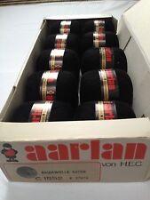 Swiss Mercerizado Algodón Tejido Negro 10 X 50 gramos de bolas Caja Original