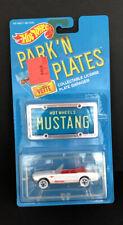 Hot Wheels 1988 Park'N Plates White Mustang Convertible Nib Good Condition