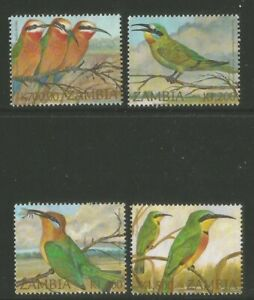 Zambia 2002 Local Bee-eaters--Attractive Bird Topical (985-88) fine used