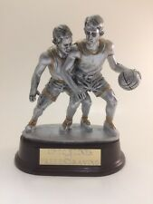 Silver Double Male Basketball Trophy! Free Engraving! Ships In 1 Business Day!