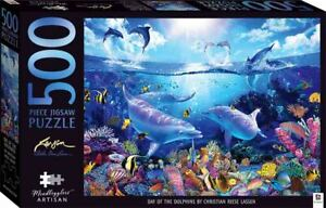 Mindbogglers Artisan 500 Piece Jigsaw Puzzle - Day Of The Dolphins