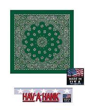 Hav-A-Hank Vert Chasseur W/ or Accent Cachemire Tête Bandana Écharpe Scarve
