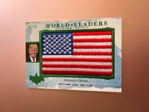 2020 POLITICAL DECISION PREMIUM WORLD LEADERS FLAG PATCH DONALD TRUMP USA 10/10