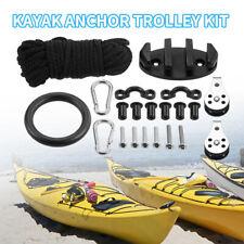 21pcs  Anchor Trolley Kit Rope Cleat Pully Block Kayak Canoe Eye Rigging Ring Se