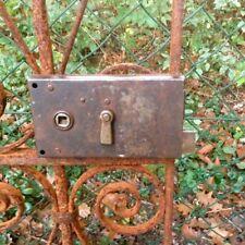 Kastenschloss für Gartentor, Schloss mit Schlüssel, Türbeschläge antik Eisen